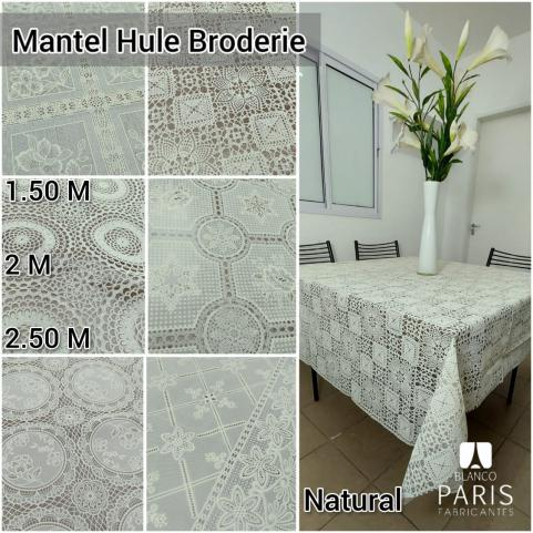 MANTEL BLANCO PARIS HULE BRODERIE 2.50 MTS